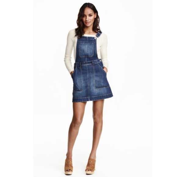 H&M Dresses & Skirts - Denim Dress Overalls